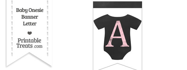 Pink Chalk Baby Onesie Bunting Banner Letter A