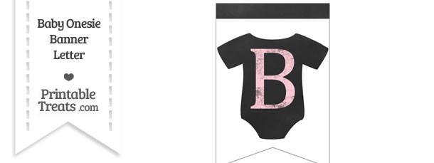 Pink Chalk Baby Onesie Bunting Banner Letter B