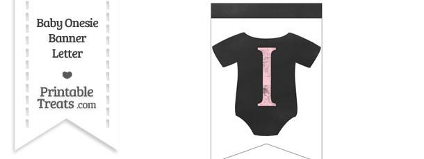 Pink Chalk Baby Onesie Bunting Banner Letter I