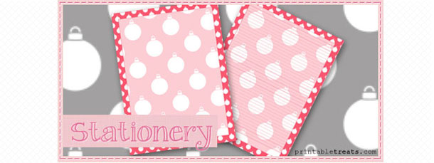 free-pink-christmas-ornament-stationery