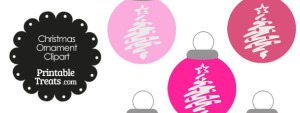 Pink Christmas Tree Christmas Ornament Clipart