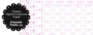 Pink Glasses Digital Scrapbook Paper