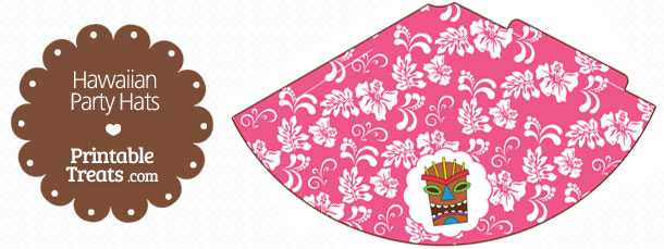 free-pink-hawaiian-party-hat-printable