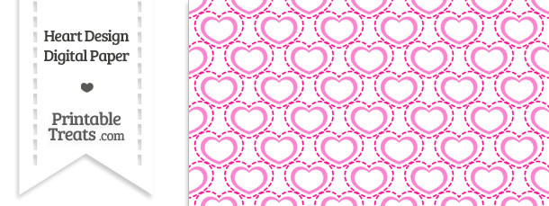Pink Heart Design Digital Scrapbook Paper