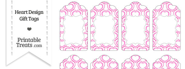 Pink Heart Design Gift Tags