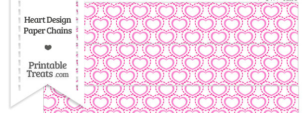 Pink Heart Design Paper Chains