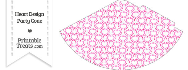 Pink Heart Design Party Cone