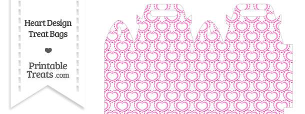 Pink Heart Design Treat Bag