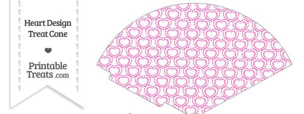 Pink Heart Design Treat Cone