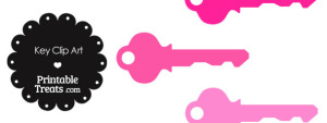 Pink Key Clipart