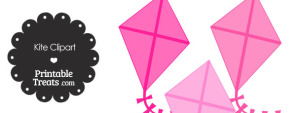 Pink Kite Clipart