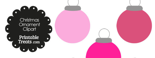 Pink Round Ornament Clipart