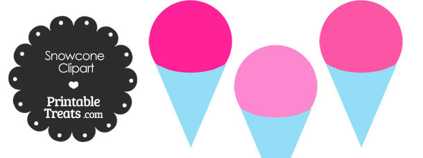 Pink Snow Cone Clipart