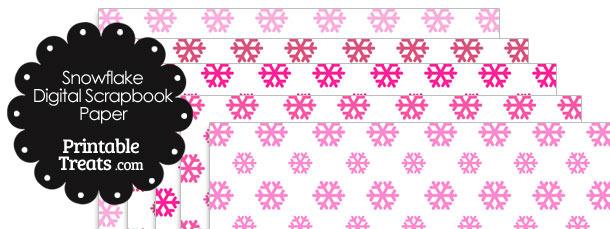 Pink Snowflake Digital Scrapbook Paper