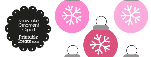 Pink Snowflake Ornament Clipart