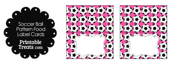 Pink Soccer Ball Pattern Food Labels