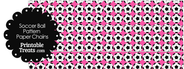 Pink Soccer Ball Pattern Paper Chains