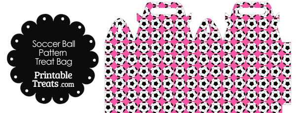 Pink Soccer Ball Pattern Treat Bag