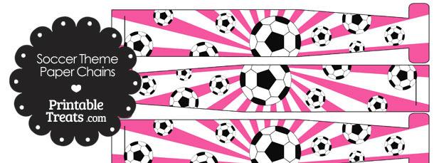 Pink Sunburst Soccer Paper Chains