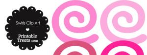 Pink Swirls Clipart