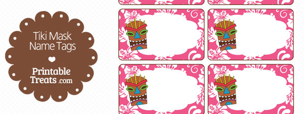 free-pink-tiki-mask-name-tag-printable