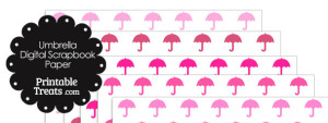 Pink Umbrella Digital Scrapbook Paper