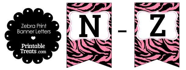 free-pink-zebra-print-bunting-banner-letters-n-z