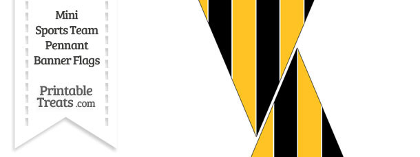 Pirates Colors Mini Pennant Banner Flags