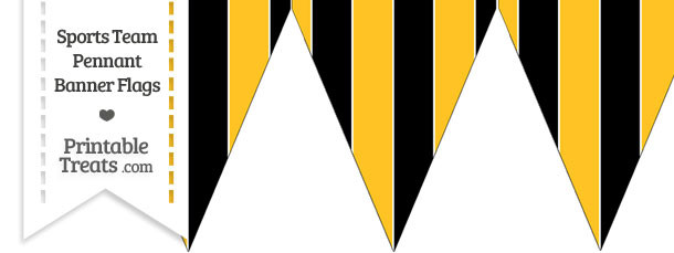 Pirates Colors Pennant Banner Flag