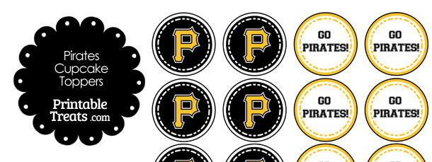 Pittsburgh Pirates Cupcake Toppers