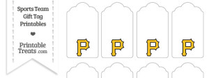 Pittsburgh Pirates Gift Tags