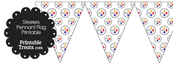 Pittsburgh Steelers Logo Pennant Banners