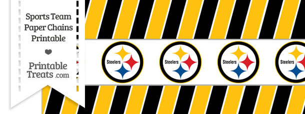 Pittsburgh Steelers Paper Chains