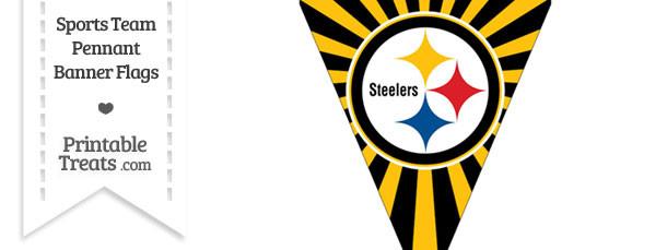 Pittsburgh Steelers Pennant Banner Flag