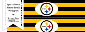 Pittsburgh Steelers Water Bottle Wrappers