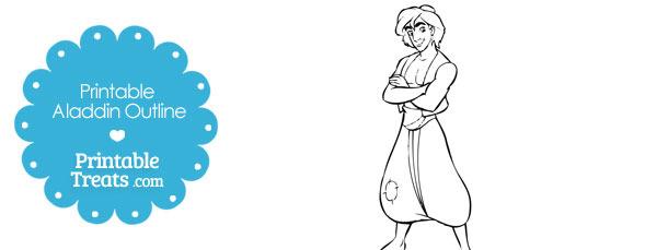 Printable Aladdin Outline