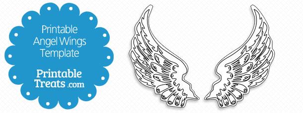 Printable Angel Wings Template Printable Treats Com
