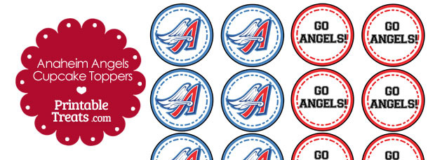 Anaheim Angels Cupcake Toppers