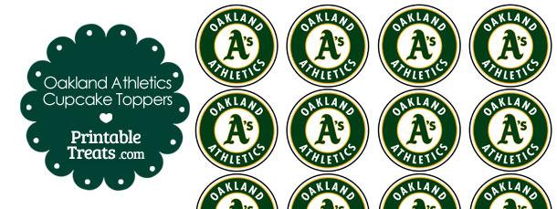 Printable Athletics Logo Cupcake Toppers