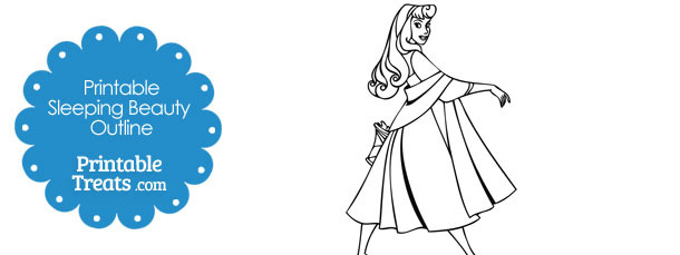 Printable Aurora Sleeping Beauty Outline