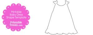 Printable Baby Dress Shape Template