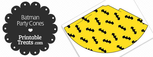 free-printable-batman-party-cones