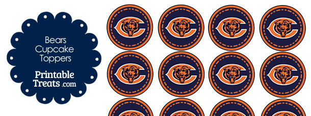 Printable Bears Logo Cupcake Toppers
