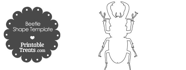 Printable Beetle Shape Template
