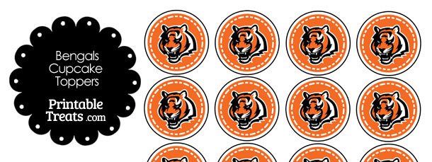 Printable Bengals Logo Cupcake Toppers