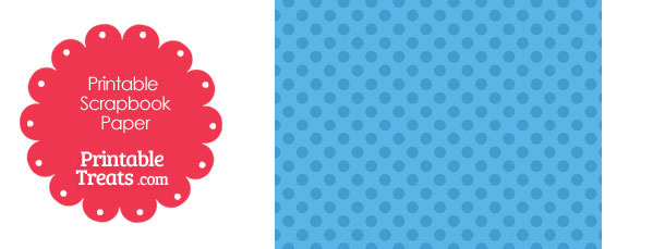 Printable Blue Polka Dot Paper from PrintableTreats.com