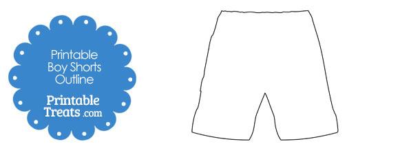 Printable Boy Shorts Shape Template