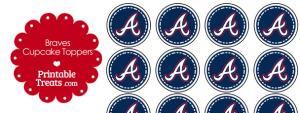 Printable Braves Logo Cupcake Toppers