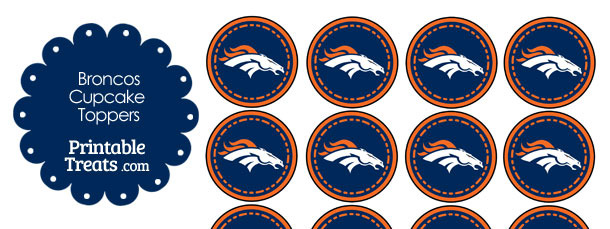 Printable Broncos Logo Cupcake Toppers