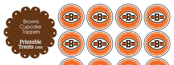 Printable Browns Logo Cupcake Toppers